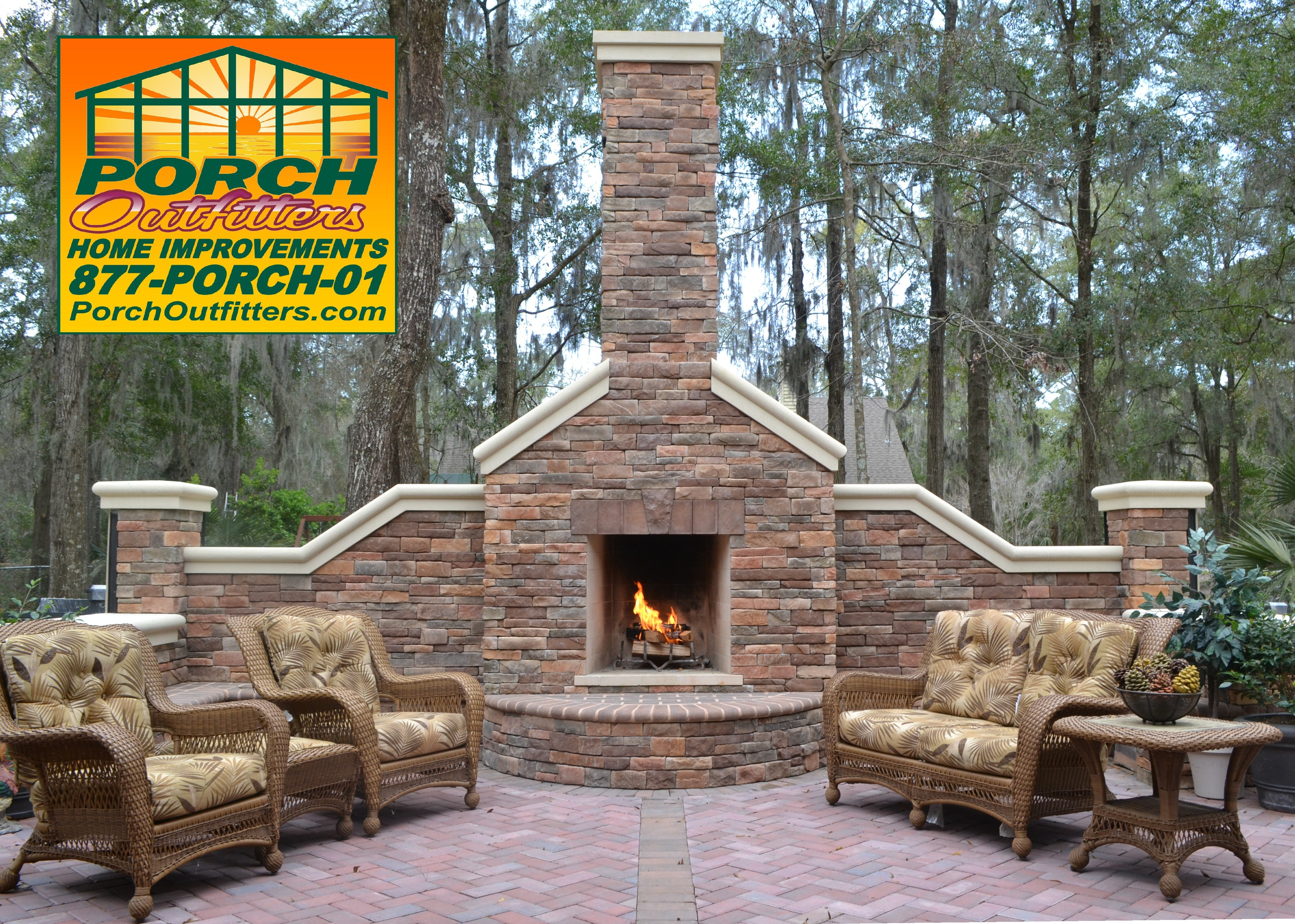 dining architect additions and room fireplace home cowman w robert addition porch
