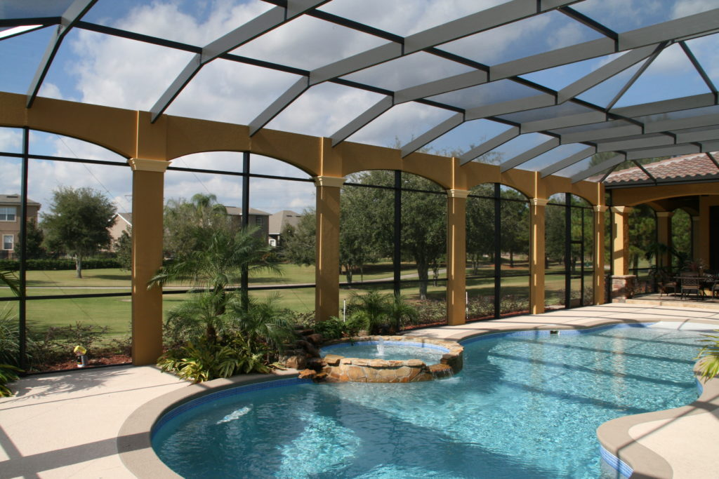 pool enclosure, cap,  porch outfitters